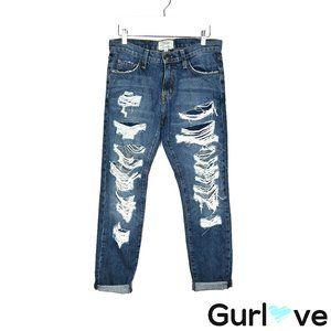 Current/Elliot 24 Boyfriend Distress Jeans